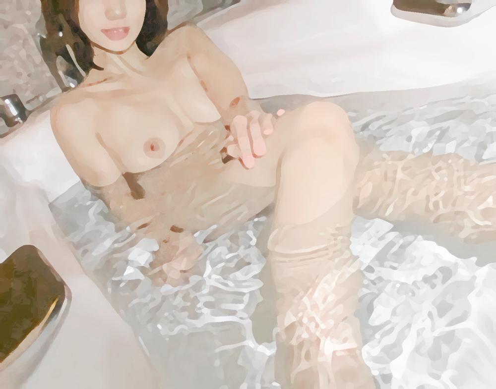 セフレと風呂場でプレイ